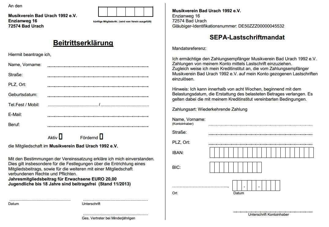 Beitrittsformular MV-Bad Urach