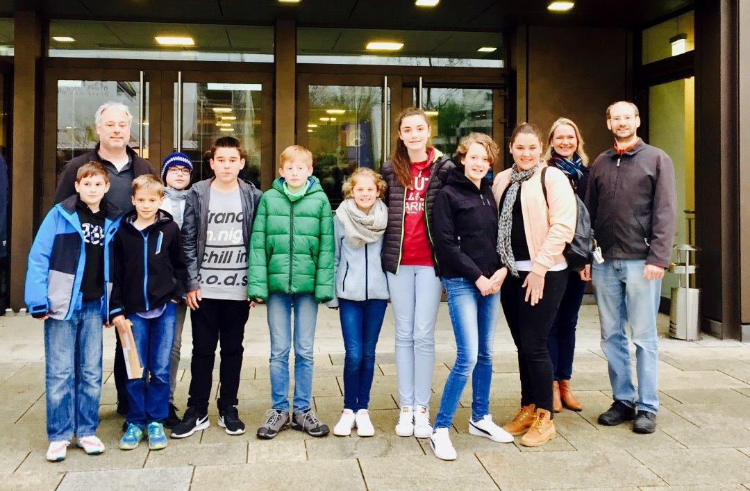 Gruppenbild der Jugendlichen